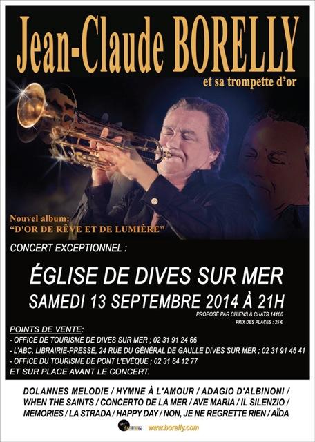 Concert Jean-Claude Borelly Dives sur mer le 13 septembre 2014