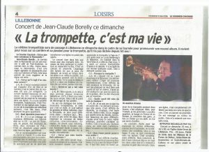 JC BORELLY interview dans le courrier cauchois du 13 mai 2016