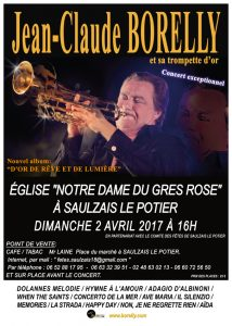 Concert Jean-Claude Borellu à Saulzais le Potier