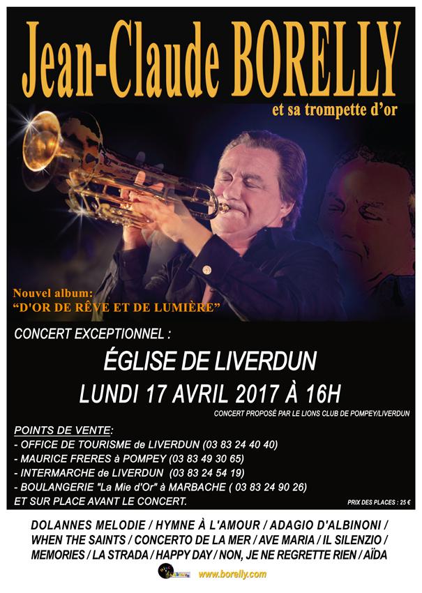 Concert de Jean-Claude Borelly, à Liverdun, en l'église St Pierre