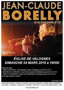 Jean-Claude Borelly en concert, le dimanche 4 mars, à Valognes à 16 heures