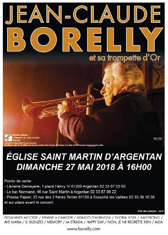 Le dimanche 27 mai à 16 heures, concert de Jean-Claude Borelly à Argentan