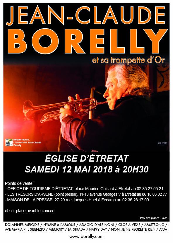 Le vendredi 11 mai à 20 heures 30, concert de Jean-Claude Borelly à Étretat