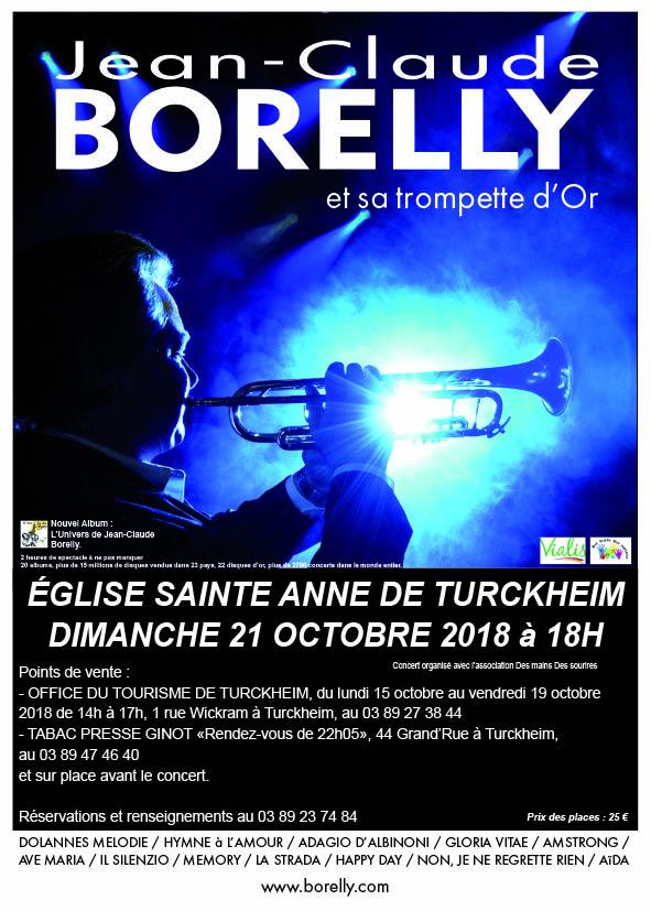 Concert le 21 octobre à 18 heures à l'église Sainte Anne de Turckheim