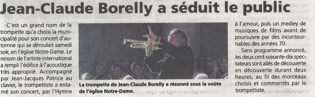Jean-Claude Borelly a séduit le public