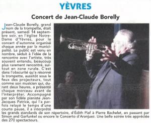 YÈVRES Concert de Jean-Claude Borelly