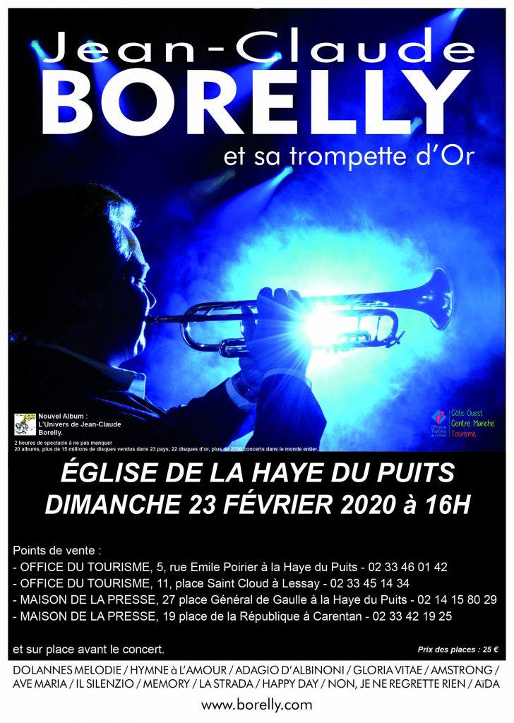 Concert à la Haye du Puits en l'église Saint Jean, le 23 février à 16 heures
