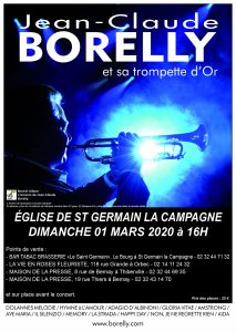 Concert à Saint Germain la Campagne, le 1 mars à 16 heures