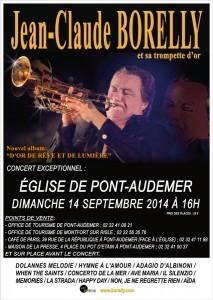 Concert de Jean Claude Borelly en l'église de Pont Audemer