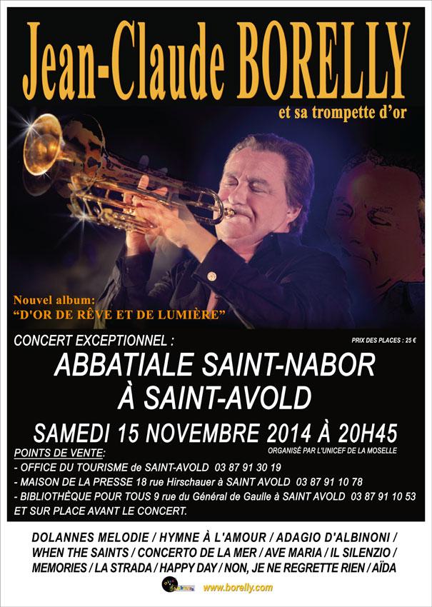 Concert de Jean-Claude Borelly à saint-avold