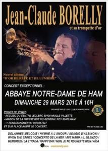 Concert de trompette Abbaye de Ham Jean-Claude Borelly