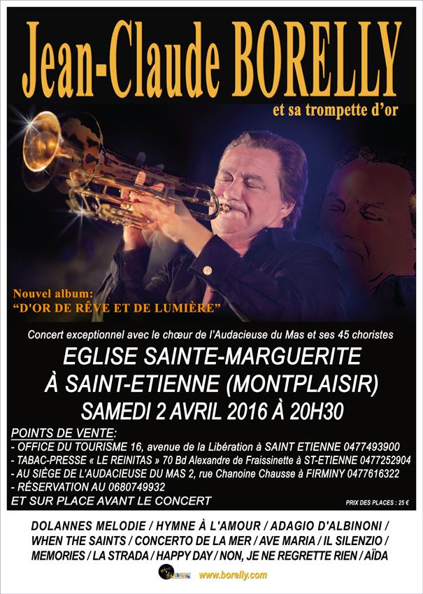 Concert Jean-Claude Borelly à Saint Etienne