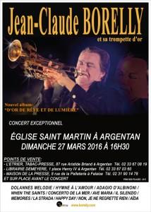 Concert de Jean-Claude Borelly et de sa trompette d'or à Argentan
