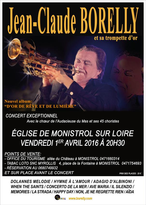 Jean-Claude Borelly en concert à Monistrol sur Loire