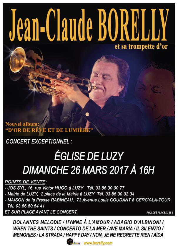 Concert Jean-Claude Borelly à Luzy