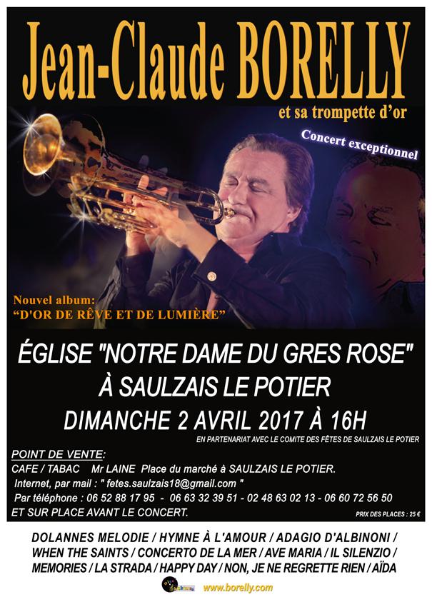 Concert Jean-Claude Borelly à Saulzais-le-Potier