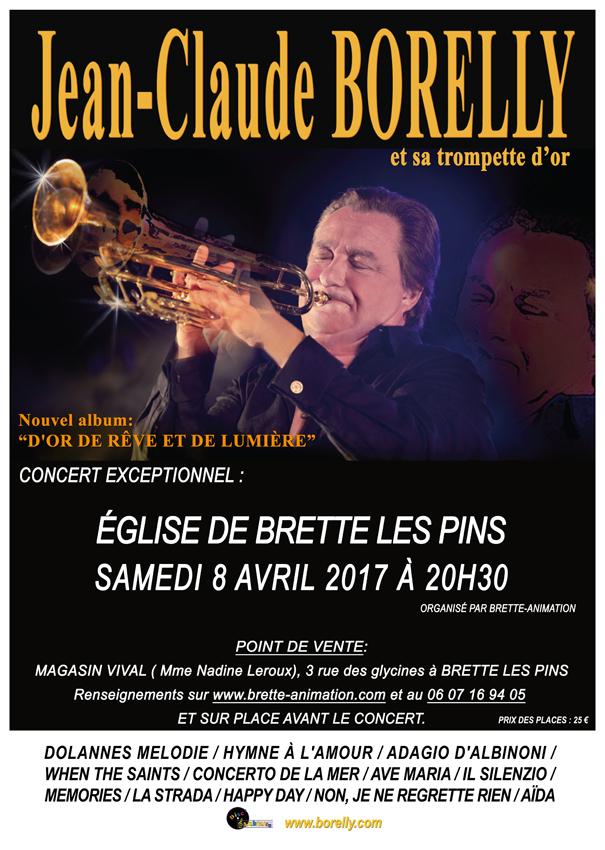Concert à l'église Saint Martin de Brette les Pins, le samedi 8 avril à 20h30