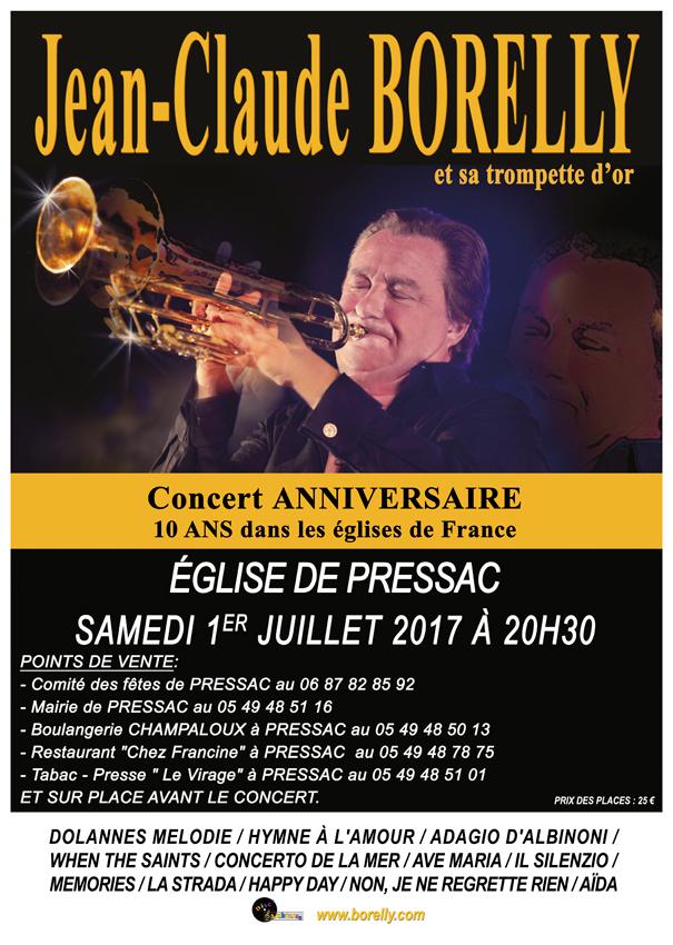 Concert le 1er juillet à l'église de Saint Just de Pressac