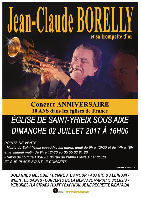 Concert le 2 juillet à l'église de Saint Yrieix sous Aixe