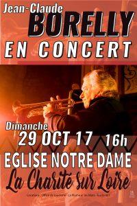Concert de Jean-Claude Borelly, le 29 octobre à l'église Notre Dame de La Charité sur Loire