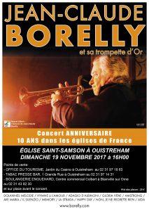 Jean-Claude Borelly en concert à l'église de Saint Samson à 16 heures, le dimanche 19 novembre