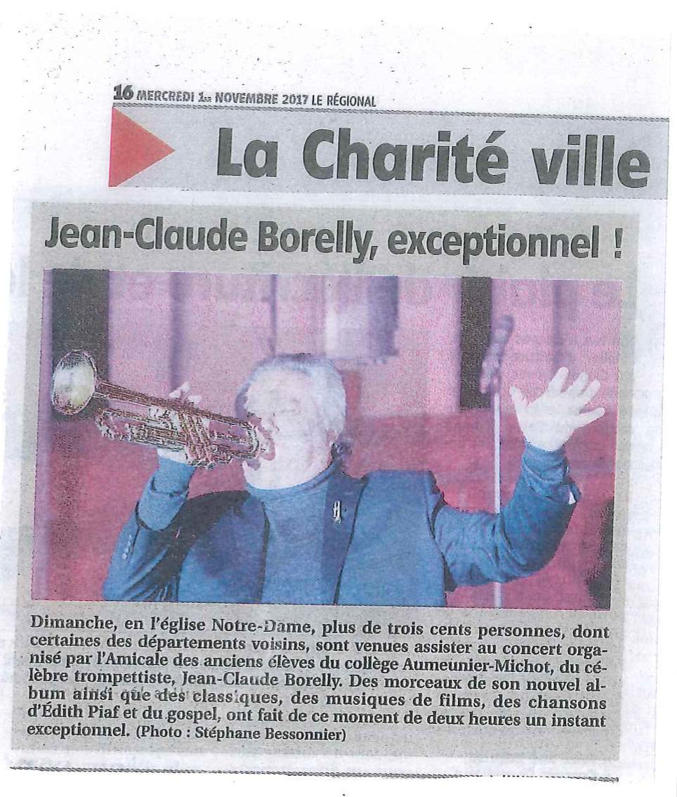 Le Régionnal : Jean-Claude Borelly : exceptionnel