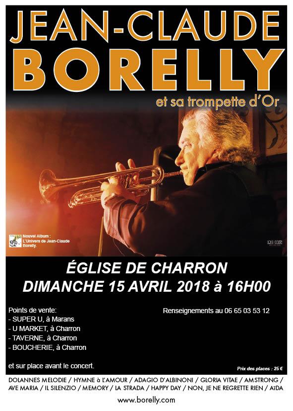 Jean-Claude Borelly en concert en l'église de Charron, le dimanche 15 avril