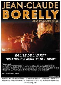 Jean-Claude Borelly en concert en l'église de Livarot à 16 heures