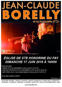 Concert à Ste Honorine du Fay, le 17 juin 2018 par Jean-Claude Borelly