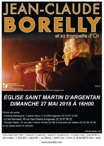 Le dimanche 28 mai à 16 heures, concert de Jean-Claude Borelly à Argentan