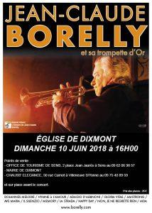 Concert à Dixmont, le 10 juin 2018 par Jean-Claude Borelly