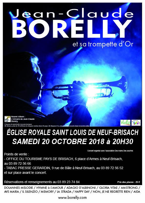 Le samedi 20 octobre à 20 heures 30, concert de Jean-Claude Borelly à Neuf-Brisach