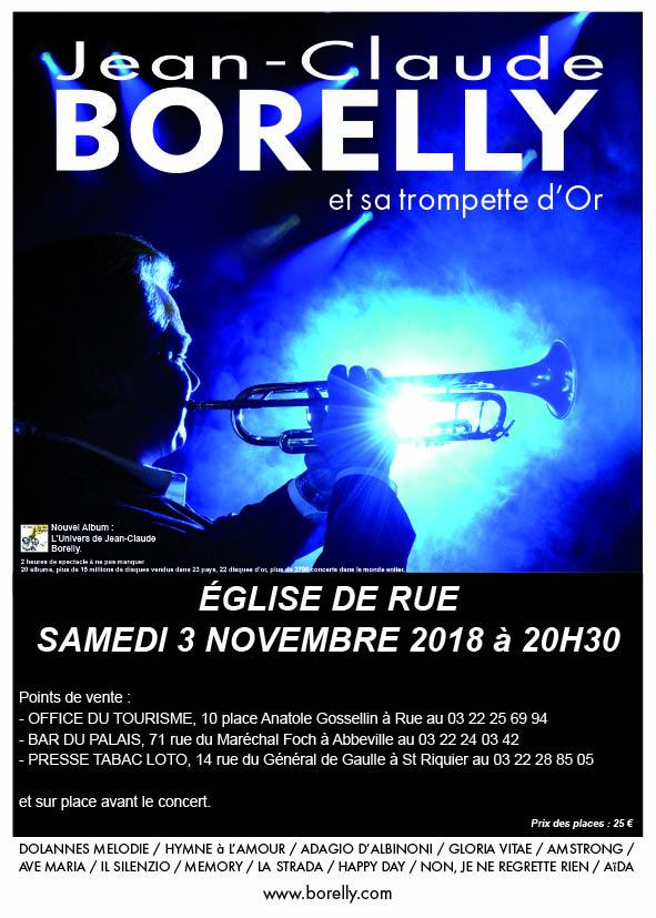 Le samedi 3 novembre à 16 heures, concert de Jean-Claude Borelly à Rue