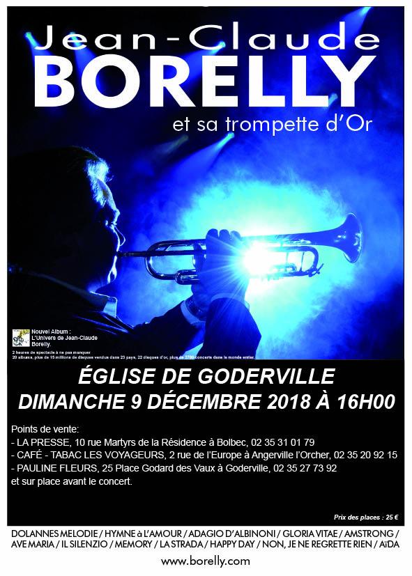 Le dimanche 9 décembre concert de Jean-Claude Borelly à Goderville
