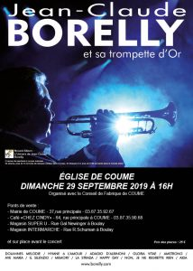 Jean-Claude Borelly en concert à l'église de Coume à 16 heures, le dimanche 29 septembre