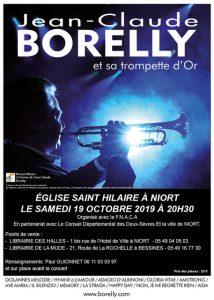 Concert à Niort en l'église Saint Hilaire à 20 heures 30, le samedi 19 octobre